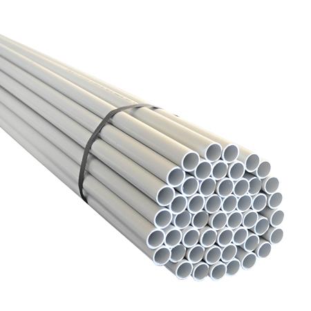 Installationsrohr starr Kunststoffrohr M25 16 m (8 Stangen)