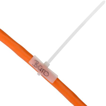 Kabelbinder mit Beschriftungsfeld 100 St�ck