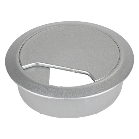 Kabeldurchführung für Schreibtische Bohrung 60 mm silber
