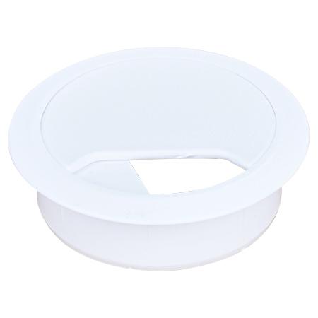 Kabeldurchführung für Schreibtische Bohrung 60 mm weiß