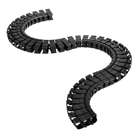 Kabelschlange schwarz 1 m