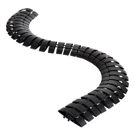 Kabelschlange trittfest schwarz 1 m