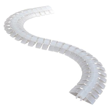 Kabelschlange trittfest transparent 1m