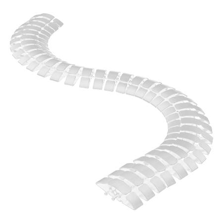 Kabelschlange trittfest weiß 1m