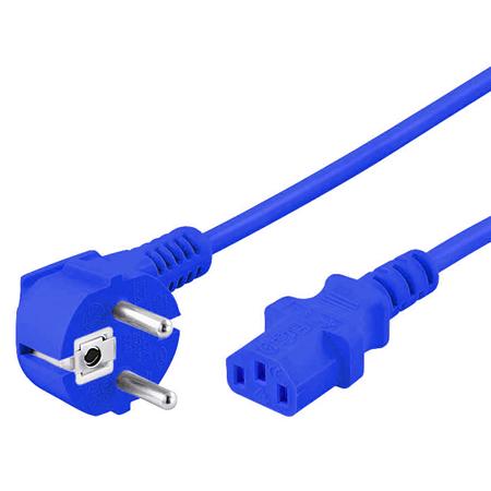 Kaltgerätekabel blau Netzkabel 1,8 m