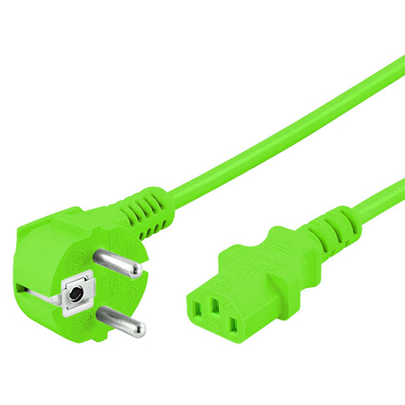 Kaltgerätekabel grün Netzkabel mit C13 Buchse 1,8 m