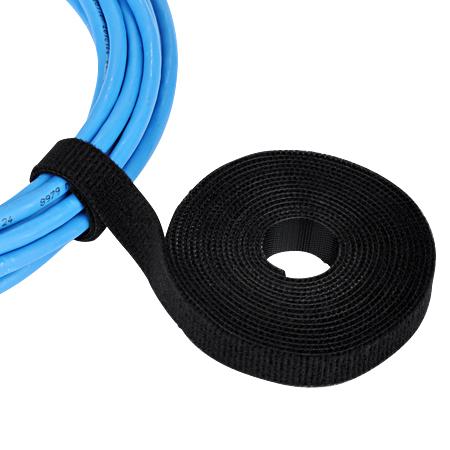 Klettband doppelseitig Velour Qualität 3 m Rolle schwarz