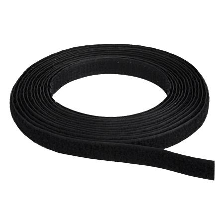 Klettband Flausch & Haken 16 mm schwarz 25 m