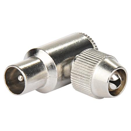 Koaxial-Winkelstecker Metall