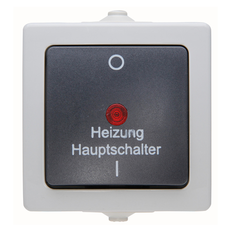 Kopp Nautic Heizung Notschalter 2-polig grau
