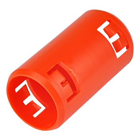 Krallenmuffe für flexible Rohre, orange