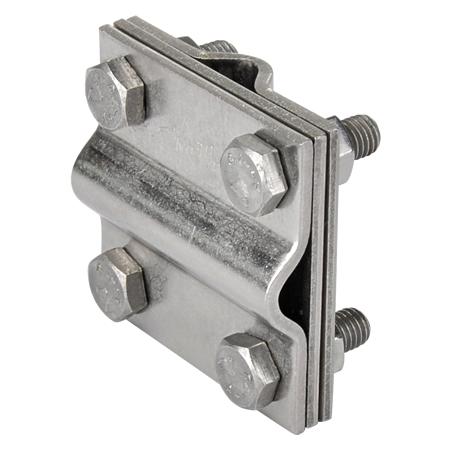 Kreuzverbinder Edelstahl V4A mit Zwischenplatte