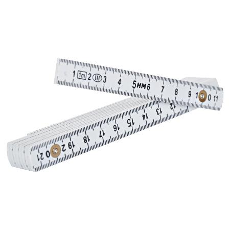 Kunststoff Meterstab weiß 1 m