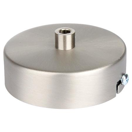 Lampenbaldachin flach Metall Silber Matt