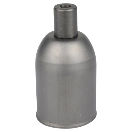 Lampenfassung E27 Metall Eisengrau mit Klemmnippel