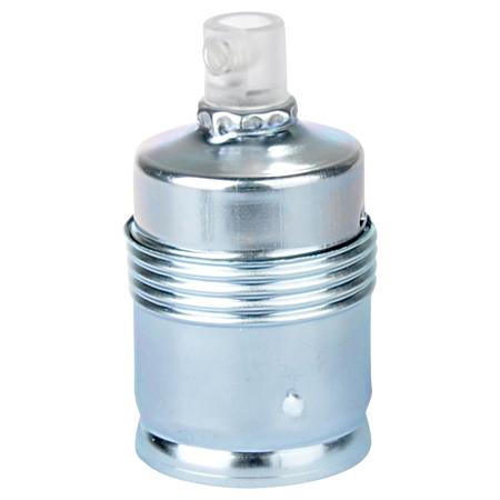 Lampenfassung E27 Metall Chrom mit Klemmnippel