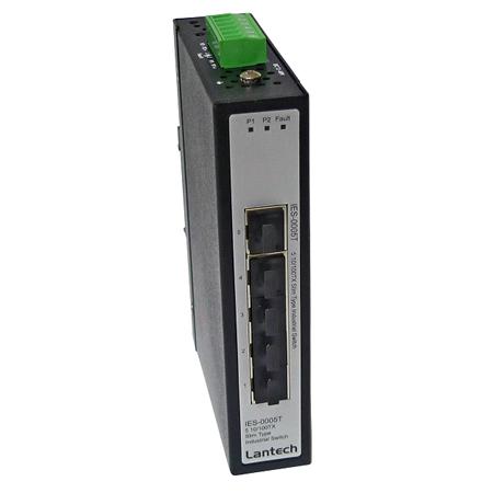 Lantech IES-0005T 5-Port Fast Ethernet Switch für Hutschienen