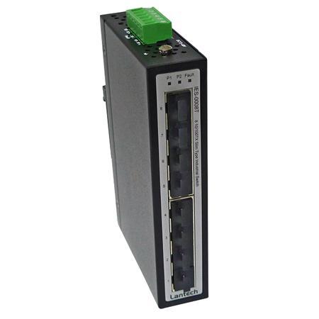 Lantech IES-0008T 8-Port Fast Ethernet Switch für Hutschienen