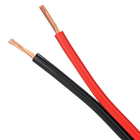 Lautsprecherkabel 2x1,5 mm² Kupfer rot/schwarz