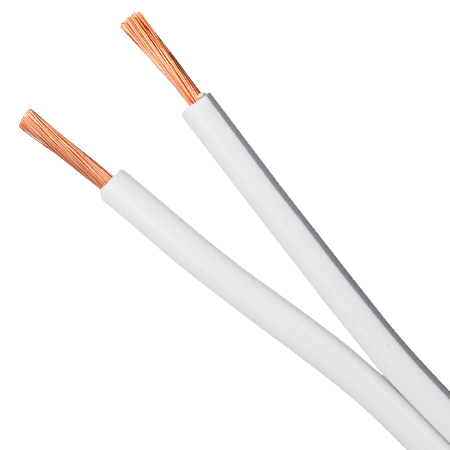 Lautsprecherkabel 2x1,5 mm² Kupfer weiß