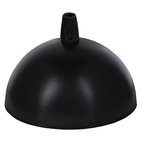 Leuchtenbaldachin halbrund Metall Schwarz