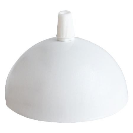 Leuchtenbaldachin halbrund Metall Weiß