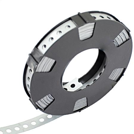 Metall Montageband gelocht verzinkt 10 m 12 mm, Loch-Ø 5 mm