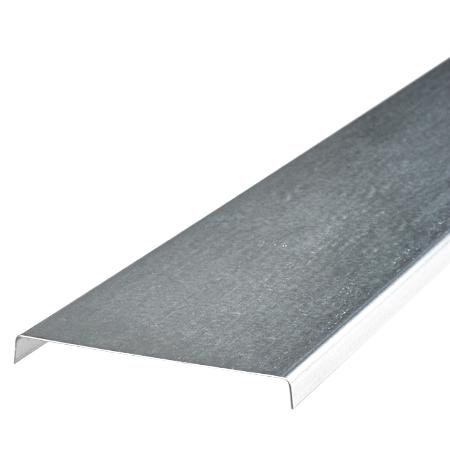 Metalldeckel für Kabelrinne 100 mm