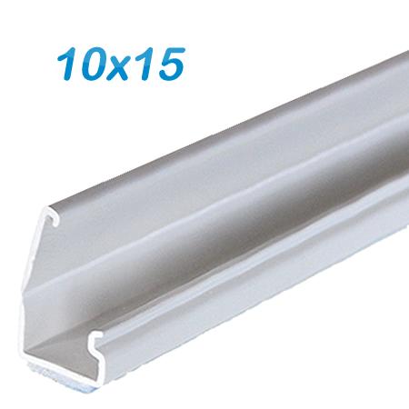 Minikanal selbstklebend 10x15 alpinweiß