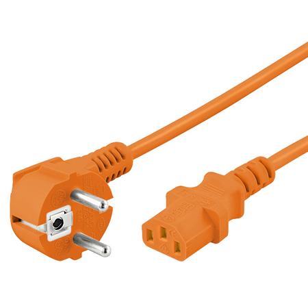 Kaltgerätekabel orange Netzkabel