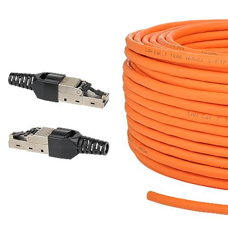 """Netzwerk-Set """"easy"""" Installationskabel & Stecker 3-teilig 100 m"""