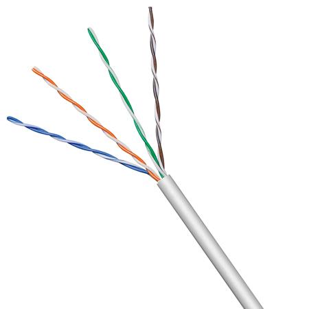 Netzwerkkabel Cat.5e U/UTP flexibel grau