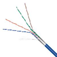 Netzwerkkabel Cat.5e F/UTP flexibel blau