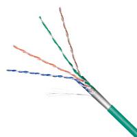 Netzwerkkabel Cat.5e F/UTP flexibel grün
