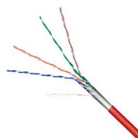 Netzwerkkabel Cat.5e F/UTP flexibel rot