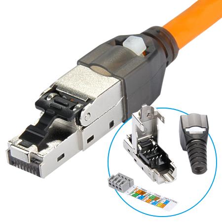 Netzwerkstecker RJ45 für starre und flexible LAN Kabel