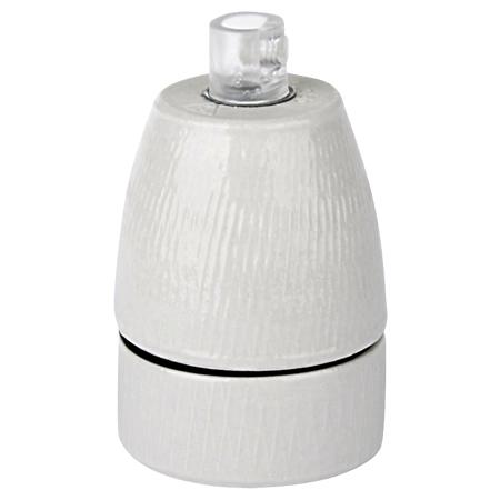 Porzellanfassung Keramikfassung E27 weiß glasiert