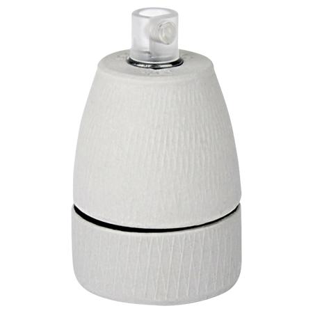 Porzellanfassung Keramikfassung E27 weiß matt