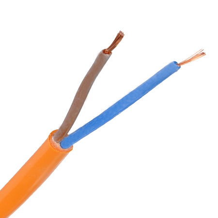 PUR Schlauchleitung H07BQ-F 2x1,5 mm² orange