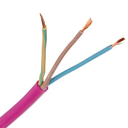 PUR Schlauchleitung H07BQ-F 3x1,5 mm² pink