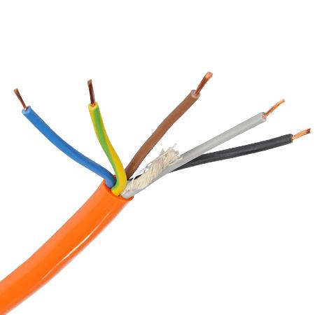 PUR Schlauchleitung H07BQ-F 5x1,5 mm² orange