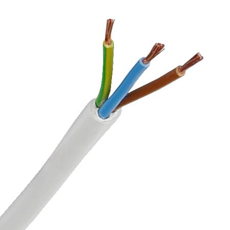 PVC-Schlauchleitung H05VV-F 3x1,0 mm² weiß