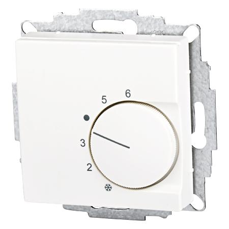 Raumtemperaturregler UP Zentralscheibe 55x55 reinweiß matt