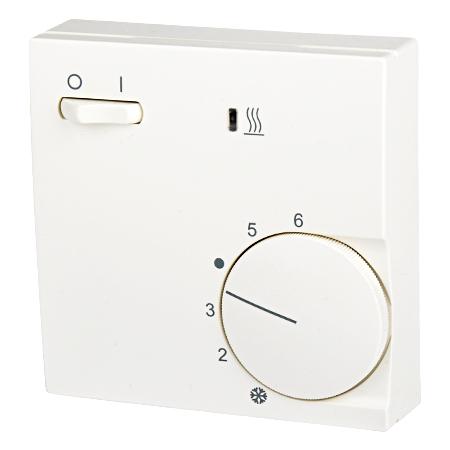 Raumthermostat Aufputz mit Schalter reinweiß matt