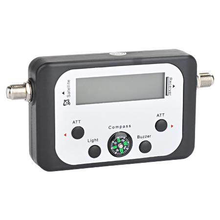 SAT Finder mit digitaler LCD-Anzeige, Kompass & Sound