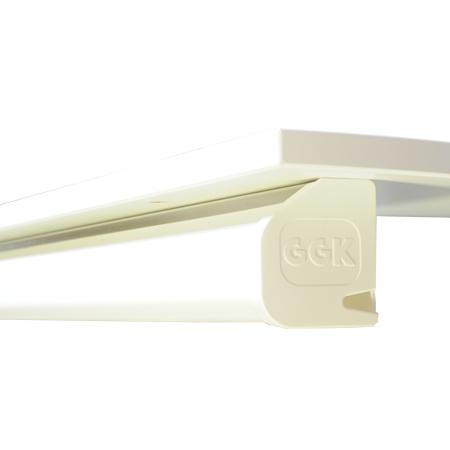Schreibtisch Kabelkanal 60x70 mm alpinweiß 1,4 m