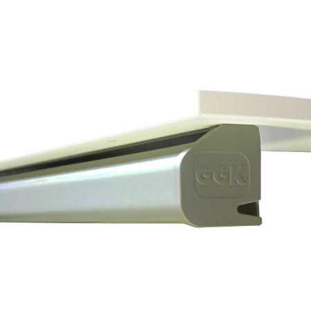 Schreibtisch Kabelkanal 60x70 mm lichtgrau 1,4 m