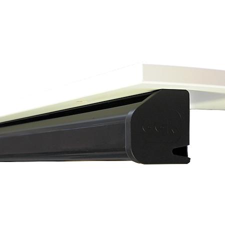 Schreibtisch Kabelkanal 60x70 mm schwarz 1,4 m