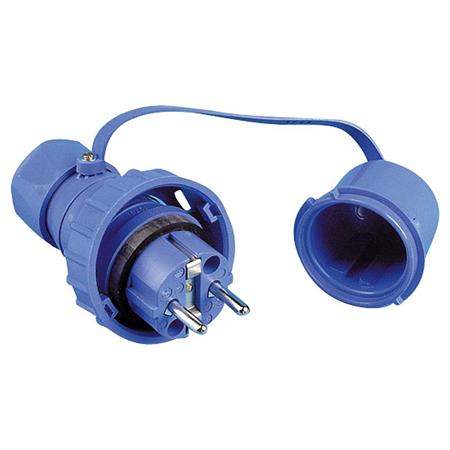 Schutzkontakt Stecker druckwasserdicht IP68