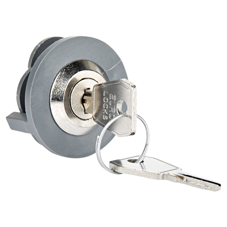 Steckdosenschloss grau mit 2 Schlüssel